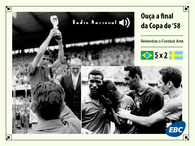 EBC | Escute a final da Copa do Mundo de 1958 entre Brasil e