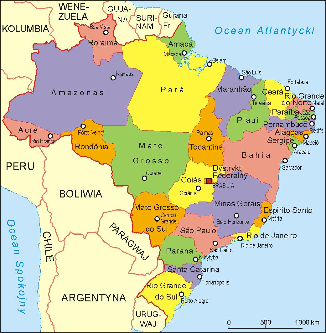 Mapa de Brasil Online