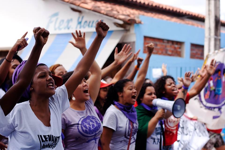 Marcha Mundial das Mulheres na Bahia. Foto: EBC