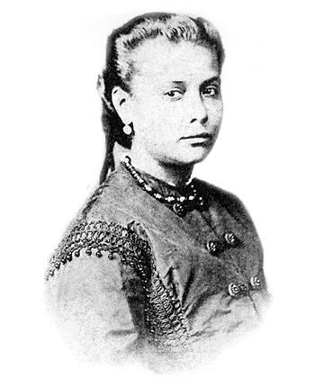 Chiquinha Gonzaga aos 18 anos