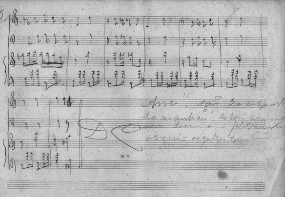 Manuscrito da música Corta-jaca