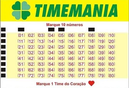 Resultado de imagem para Timemania