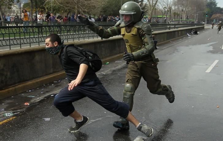 Protesto estudantil no Chile