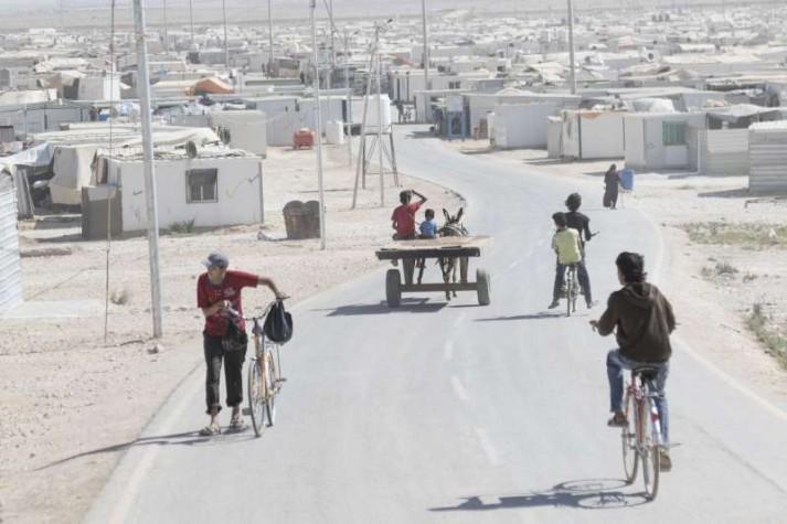 Campo de Refugiados Zaatari, na Jordânia