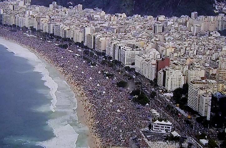 Copacabana com 3 milhões de pessoas