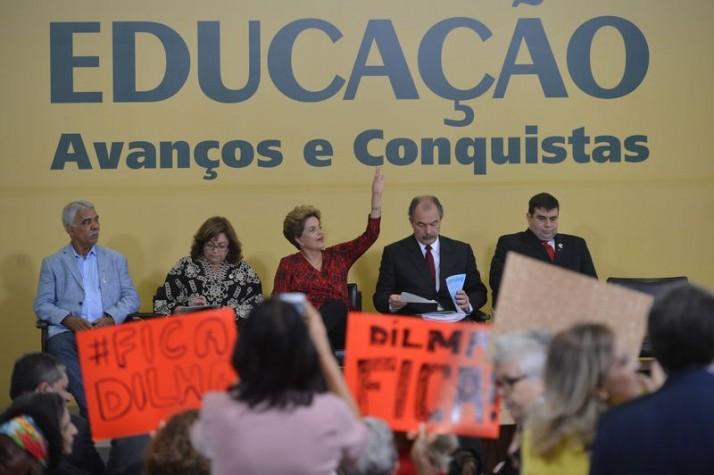 Brasília - A presidente Dilma Rousseff anuncia a criação de cinco universidades federais. A cerimônia foi feita no Palácio do Pl