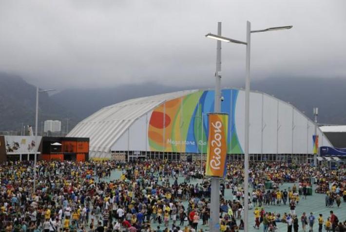 O Parque Olímpico, neste sábado, recebeu um público de 167 mil pessoas