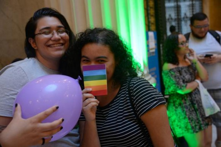Na foto, manifestação ocorrida em 2017 contra a homofobia no CCBB do Rio de Janeiro