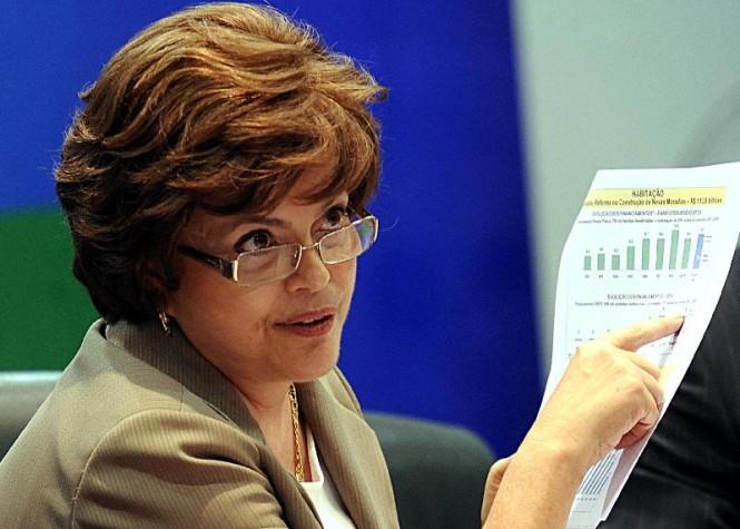 Dilma Rousseff como ministra-chefe da Casa Civil em 2009