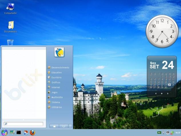 O BRLix tem cara de Windows, mas é Linux