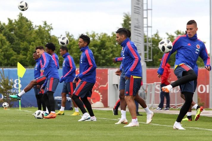 Treino da seleção da Colômbia colombiana