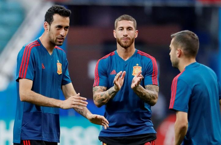Treino da Espanha para a Copa do Mundo