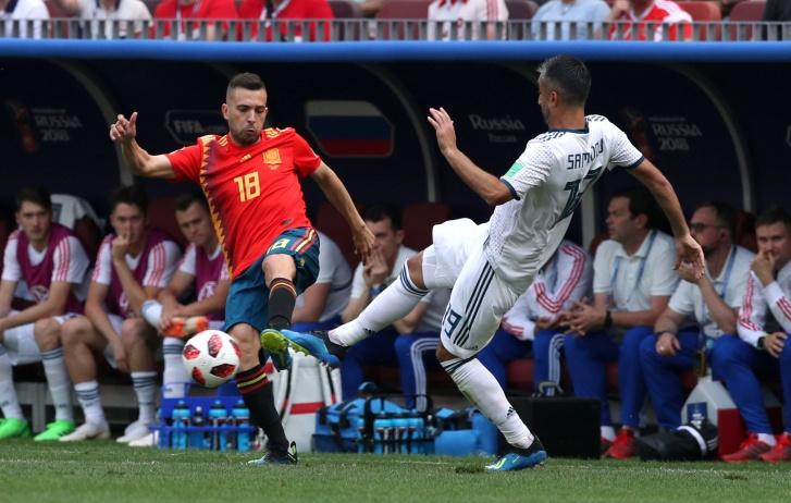 Jogo entre Espanha e Rússia pelas oitavas de final da Copa do Mundo 2018