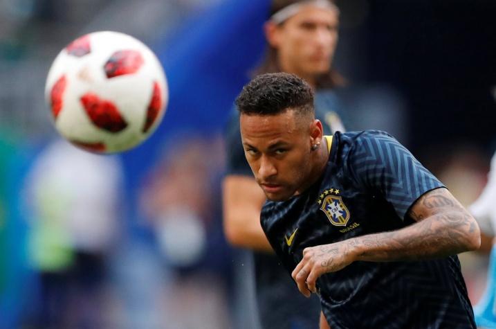 Copa 2018: Neymar, do Brasil, antes do jogo contra o México pelas oitavas