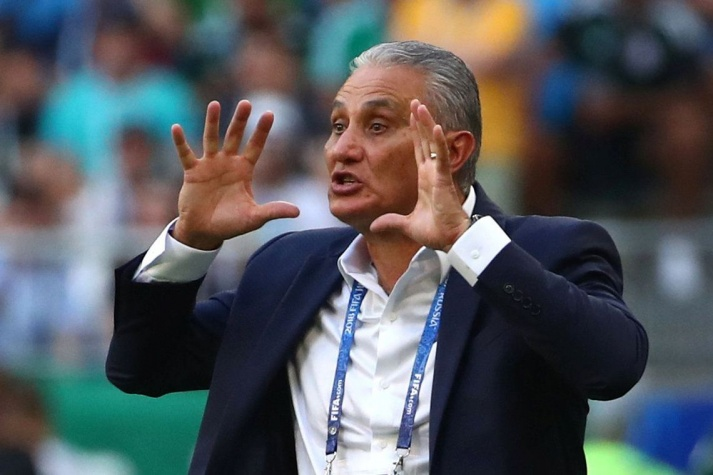 Copa 2018: Tite durante jogo entre Brasil x México