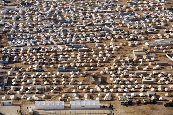 Mafraq – Jordânia – Vista de campo de refugiados Za'atri na Jordânia que vem abrigando centenas de milhares de sírios