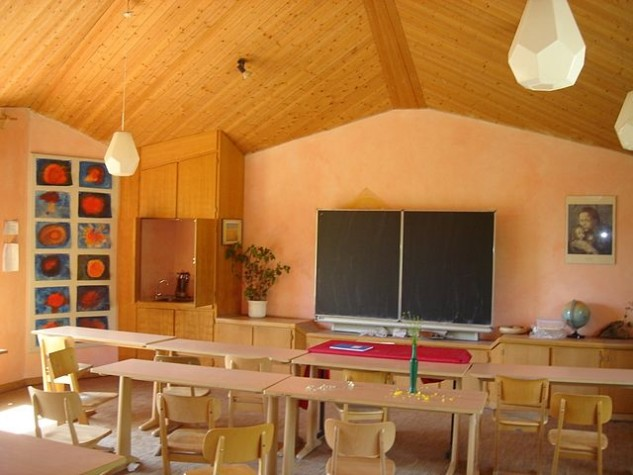 Sala de aula de escola Waldorf