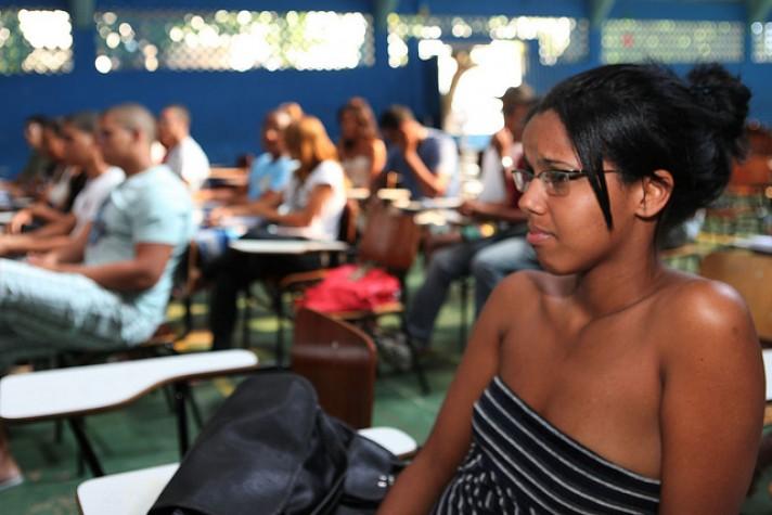 Sala de aula na Bahia