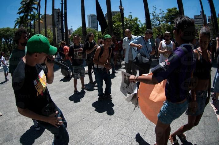 Ato contra a exclusão social e o preconceito na Praça da Sé