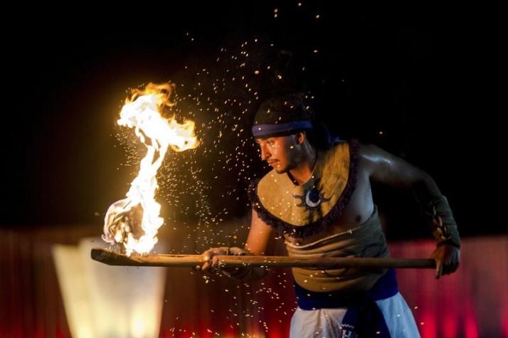 """A """"Pelota Purépecha""""  também conhecida como """"Bola de fogo""""  foi apresentada nos Jogos Mundiais Indígenas"""