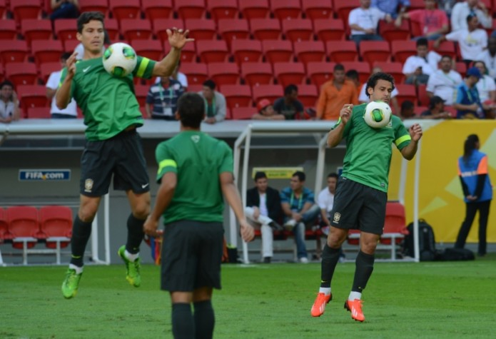 Seleção brasileira de futebol faz treino de reconhecimento no Estadio Nacional Mané Garrincha - 17