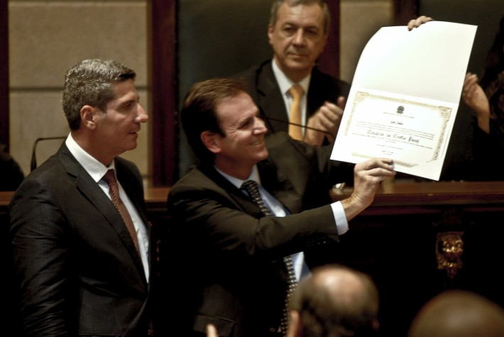 Diplomação de Eduardo Paes na Câmara do Rio