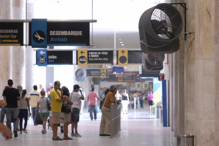 Problema no sistema de ar-condicionado do Aeroporto Santos Dumont demorou quase um mês para ser solucionado