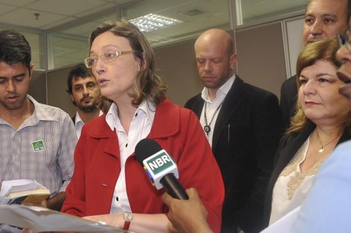 A ministra da Secretaria de Direitos Humanos, Maria do Rosário