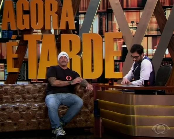 Alexandre Frota no programa Agora e Tarde