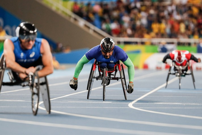 Ariosvaldo Silva, o Parré, marcou 14s69 centésimos, nos 100 metros T53