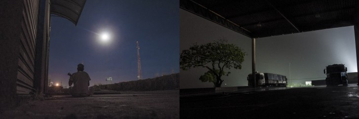 Lua e posto de gasolina - Projeto Transite