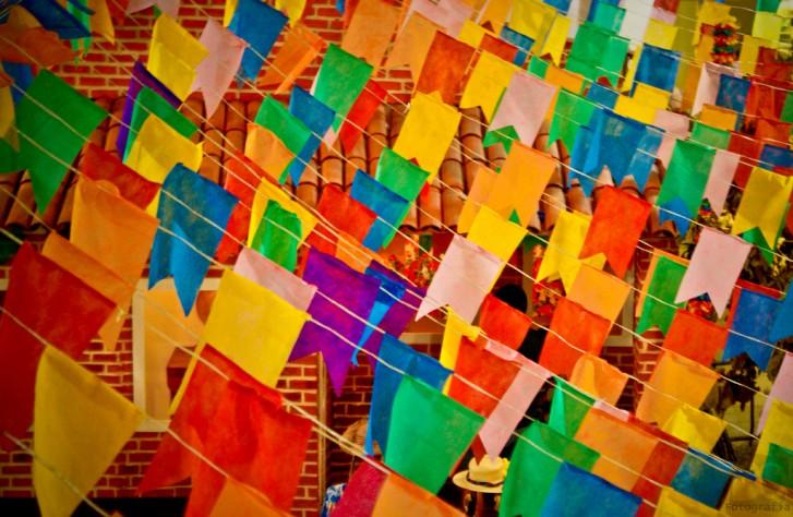 Bandeirinhas bandeirolas bandeiras são joão