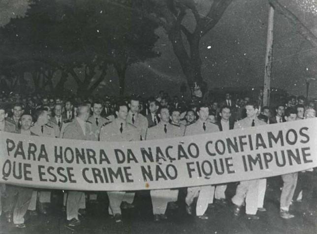 Militares pedem punição ao crime da rua Tonelero em 1954