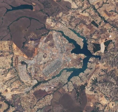 Brasília vista da Estação Espacial Internacional