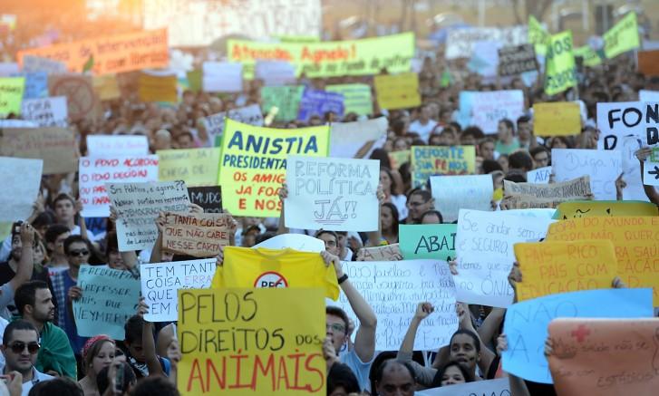 Protestos em Brasília