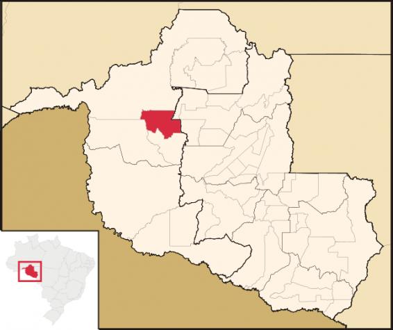 Localização do município de Buritis, em Rondônia