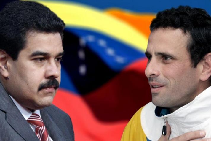Capriles e Maduro Venezuela Eleições