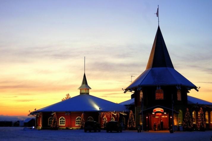 Casa do Papai Noel na Lapônia