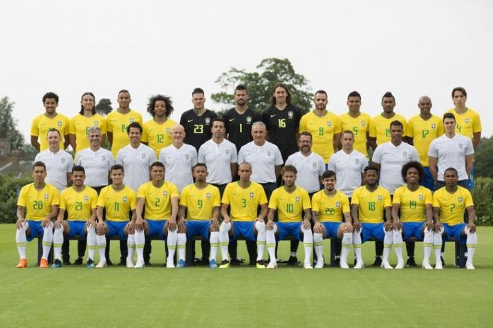 Foto oficial da seleção brasileira para a Copa do Mundo na Rússia