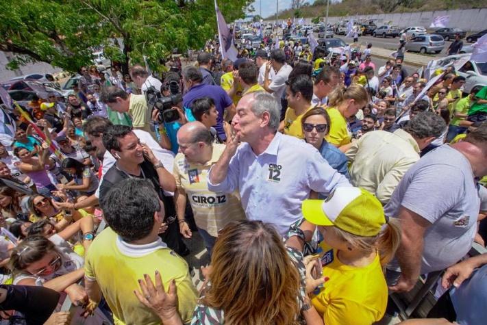 Ciro Gomes em campanha - dia 6/10/2018