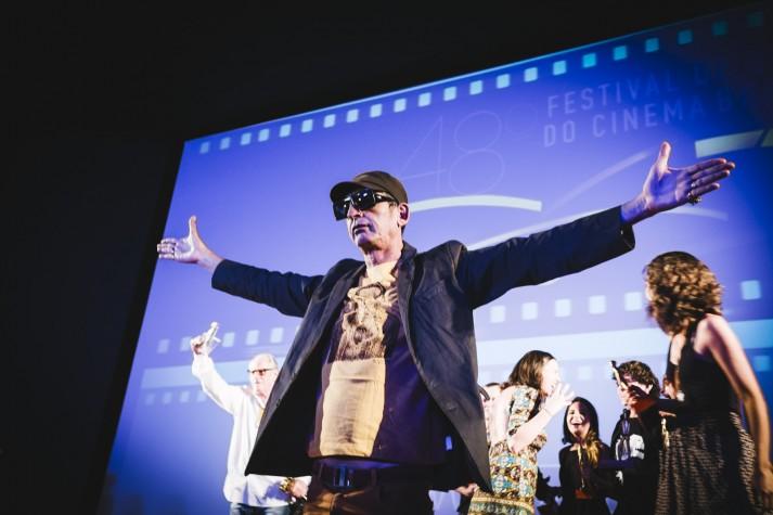 Cláudio Assis, diretor de Big Jato, vendedor do prêmio de melhor filme do Festival de Brasília