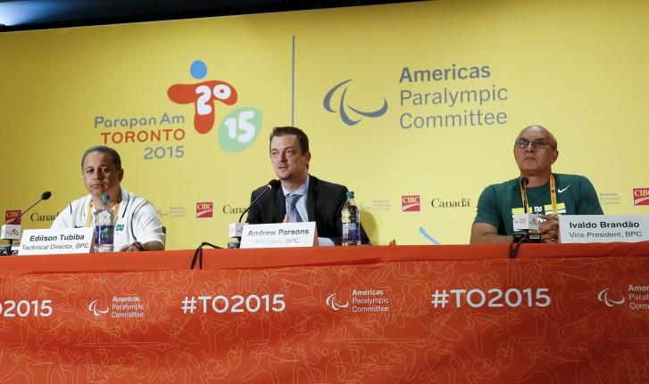 Entrevista coletiva com os chefes da delegação do Brasil no Parapan