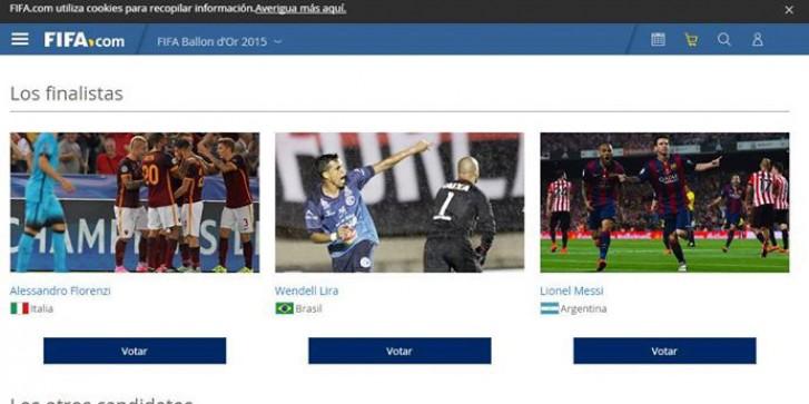 Como votar site da Fifa