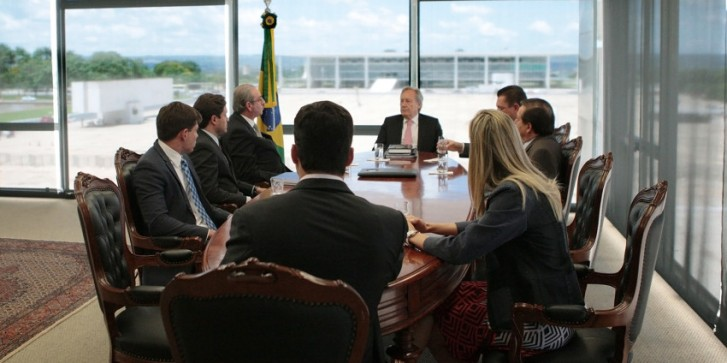 Cunha em reunião no STF