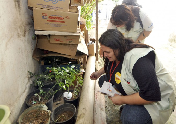 Ação de combate à dengue em Jundiaí (SP)