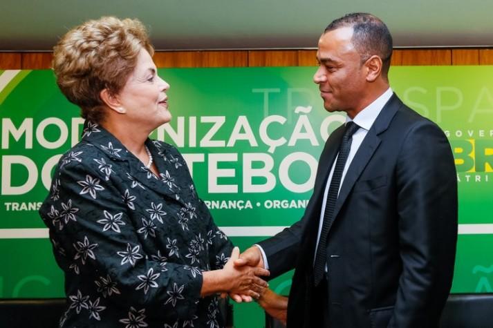 Dilma Rousseff durante cerimônia de anúncio de Medidas de Modernização do Futebol