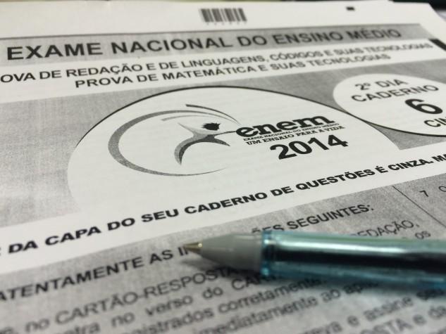 Caderno de prova cinza - Enem 2014