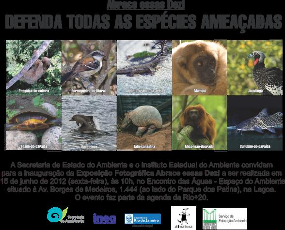 Exposição mostra animais ameaçados de extinção