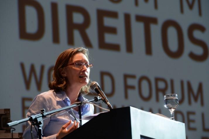 A ministra de Direitos Humanos, Maria do Rosário, participa da abertura do Fórum Mundial de Direitos Humanos. Na abertura, houve um minuto de silêncio em homenagem ao líder sul-africano Nelson Mandela