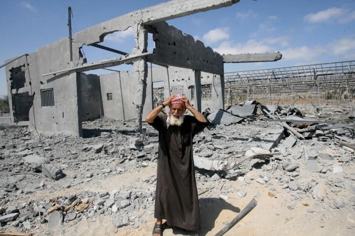 Destruição na Faixa de Gaza